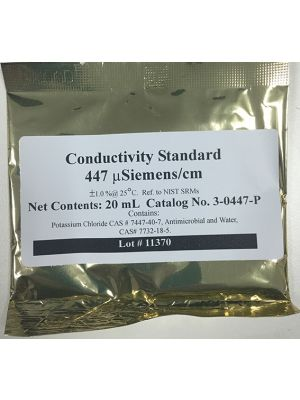447 uS/cm Conductivity Calibration Solution